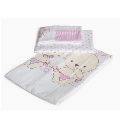 Детская сменная постель Twins Dolce D-002 Friend forever pink