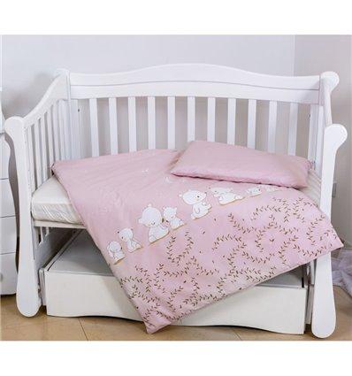 Детская сменная постель Twins Eco Line E-016 Umka baby pink pastel