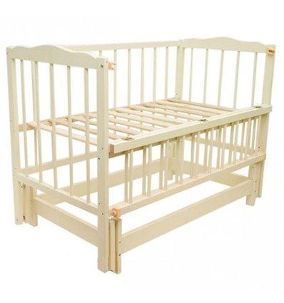 Детская кроватка Колисковий Світ Малятко без ящика Слоновая кость