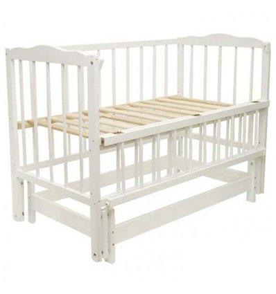 Детская кроватка Колисковий Світ Малятко без ящика Белая