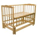 Детская кроватка Колисковий Світ Малятко без ящика Дуб
