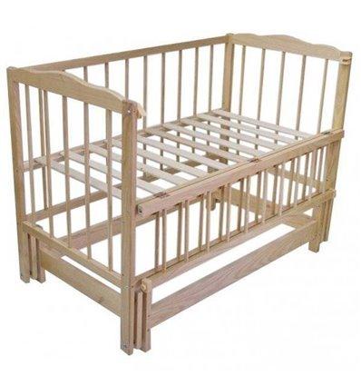 Дитяче ліжко Колисковий Світ Малятко без шухляди Натуральний