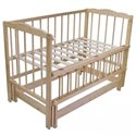 Детская кроватка Колисковий Світ Малятко без ящика Натуральный