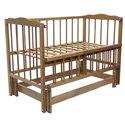 Детская кроватка Колисковий Світ Малятко без ящика Орех лесной
