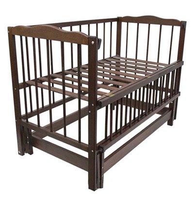 Детская кроватка Колисковий Світ Малятко без ящика Орех