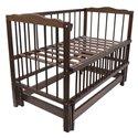 Дитяче ліжко Колисковий Світ Малятко без шухляди Горіх