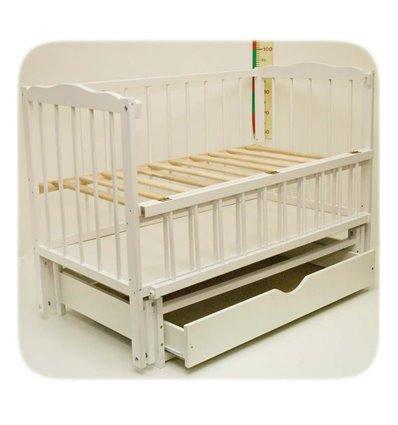 Дитяче ліжко Колисковий Світ Малятко з шухлядою Біле