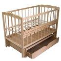 Детская кроватка Колисковий Світ Малятко с ящиком Натуральный