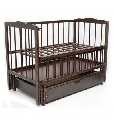 Детская кроватка Колисковий Світ Малятко с ящиком Орех