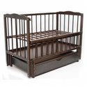 Дитяче ліжко Колисковий Світ Малятко з шухлядою Горіх