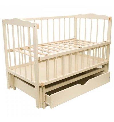 Дитяче ліжко Колисковий Світ Малятко з шухлядою Слонова кістка