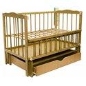 Детская кроватка Колисковий Світ Малятко с ящиком Дуб