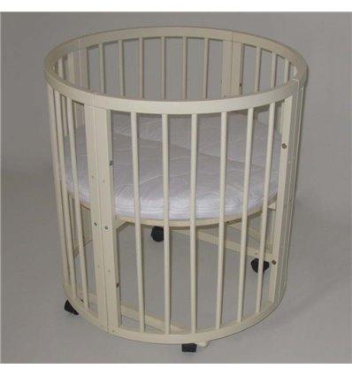 Овальная кроватка-трансформер с матрасом Колисковий Світ Каприз