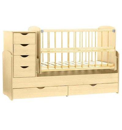 Детская кроватка-трансформер Колисковий світ Натуральный