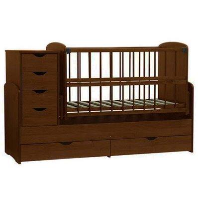 Детская кроватка-трансформер Колисковий світ Орех