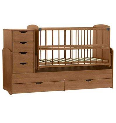 Детская кроватка-трансформер Колисковий світ Орех лесной