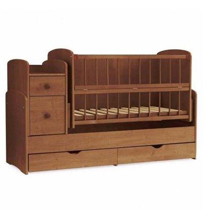 Детская кроватка-трансформер 2 Колисковий світ Орех лесной
