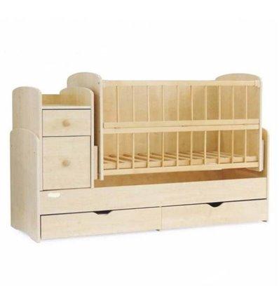 Детская кроватка-трансформер 2 Колисковий світ Натуральный