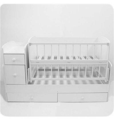 Дитяче ліжко-трансформер 2 Колисковий світ Біле