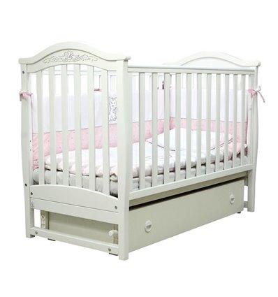Детская кроватка Верес Соня ЛД3 с маятником и ящиком белая