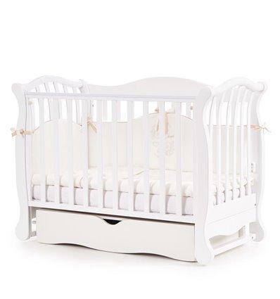 Детская кроватка Верес Соня ЛД19 с маятником и ящиком белая