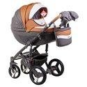 Детская коляска 2 в 1 Adamex Monte Deluxe Carbon D101 эко-кожа