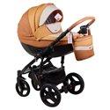 Детская коляска 2 в 1 Adamex Monte Deluxe Carbon D104 эко-кожа