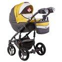 Детская коляска 2 в 1 Adamex Monte Deluxe Carbon D108 эко-кожа
