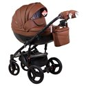 Детская коляска 2 в 1 Adamex Monte Deluxe Carbon 12S эко-кожа