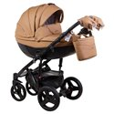 Детская коляска 2 в 1 Adamex Monte Deluxe Carbon 56S эко-кожа