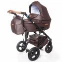 Детская коляска 2 в 1 Broco Capri эко кожа коричневая