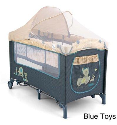 Манеж кровать Milly Mally Mirage Deluxe Blue Toys