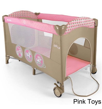 Манеж ліжечко Milly Mally Mirage Pink Toys
