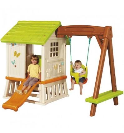 Детский домик Smoby 810601 с горкой и качелями