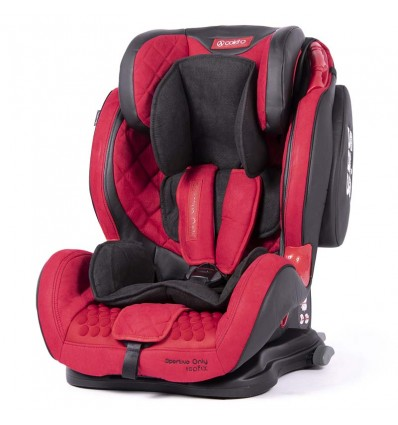 Автокресло детское Coletto Sportivo Only IsoFix красное, 9-36 кг