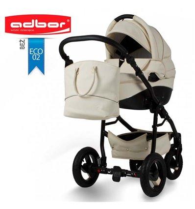 Детская коляска 2 в 1 Adbor Nemo Exclusive 02 эко-кожа бежевая