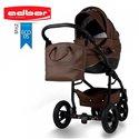 Детская коляска 2 в 1 Adbor Nemo Exclusive 05 эко-кожа коричневая