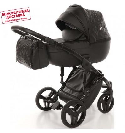 Дитяча коляска 2 в 1 Tako Junama Enzo 04 еко-шкіра чорна