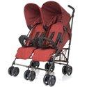 Прогулочная коляска для двойни 4Baby Twins красная