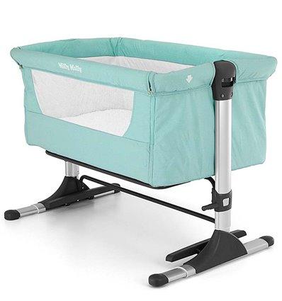 Дитяче приставне ліжечко люлька Milly Mally Side by Side Mint. 074da391b5c09