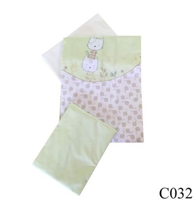 Сменная постель Twins Comfort C-032 Котики зеленый 3 элемента