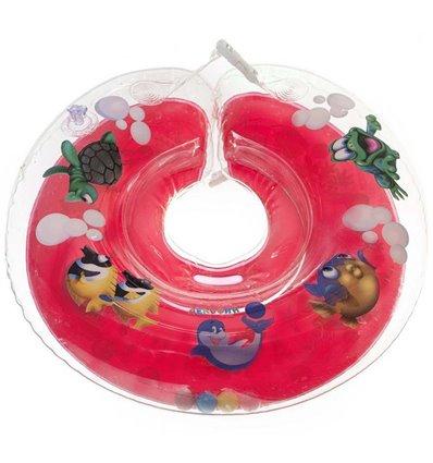 Детский круг для купания Tega Дельфин Красный