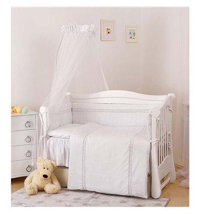Детский постельный комплект Twins Magic sleep М-006 Ajour Белый 7 предметов
