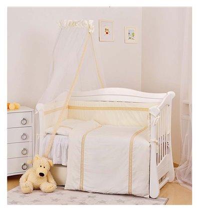 Детский постельный комплект Twins Magic sleep М-007 Ajour Бежевый 7 предметов