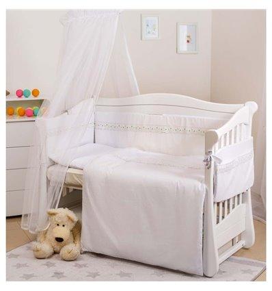 Детский постельный комплект Twins Magic sleep М-009 Classic Белый 6 предметов