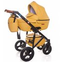 Детская коляска 2 в 1 Broco Capri эко кожа желтый