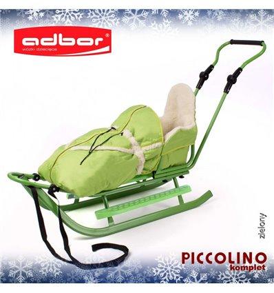 Санки Adbor Piccolino Комплект зелені