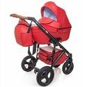 Детская коляска 2 в 1 Broco Capri эко кожа красная