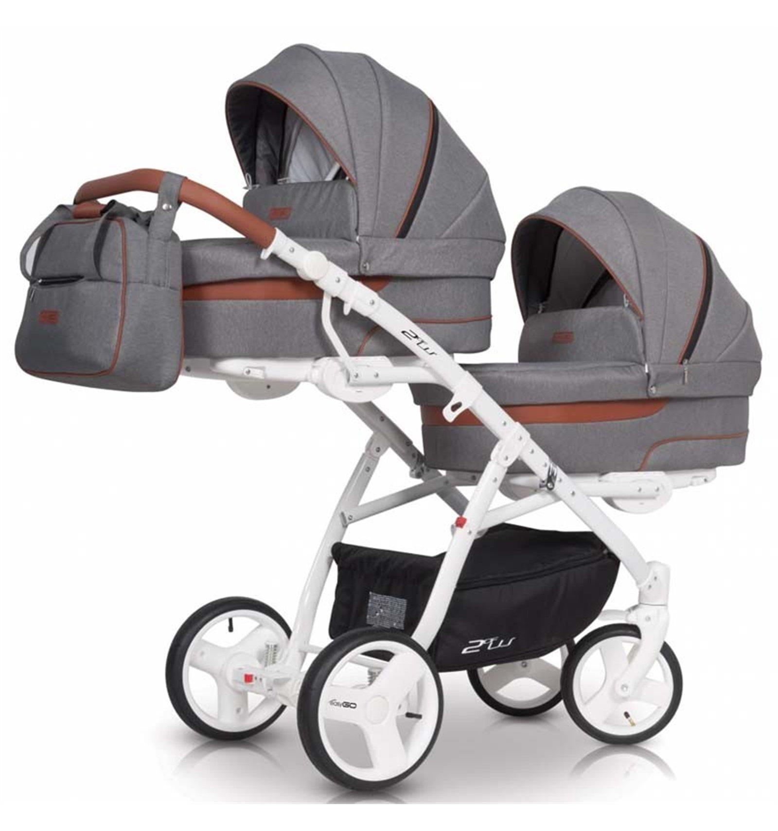 універсальна коляска для двійні Easygo 2ofus Latte