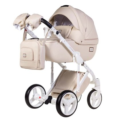 Детская коляска 2 в 1 Adamex Luciano Deluxe 67S Эко-Кожа